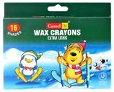 Camel - Wax Crayons 16 Shades of extra long assorted wax crayons