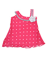 Babyhug Singlet Frock Fancy Flower Applique - Polka Dots
