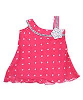 Babyhug Singlet Frock Fancy Flower Applique - Polka Dots