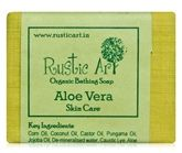 Rustic Art Aloevera Organic Bathing Soap