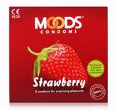 Moods Strawberry Condom - Pack of 3