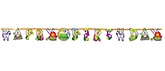 Wanna Party Add An Age Letter Banner - Jungle Animal