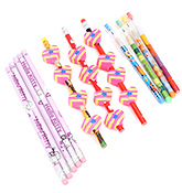 Mr. Clean Pencils And Erasers Set - 24 Pieces