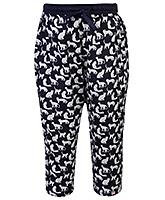 Gini & Jony Trouser With Drawstring - Animal Prints