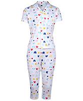 Teddy Half Sleeves Night Suit - Teddy Face Print