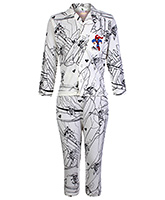 Cucumber Full Sleeves Night Suit - Superman Action Print