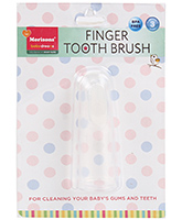 Finger Toothbrush Silicone White 3 Months+, For Cleaning Your Baby's Gums And Teeth