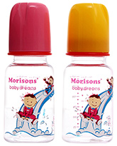 Morisons Baby Dreams - Twin Pack Designer Feeding Bottles