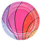 Karmallys Paper Plates Multicolor Print - Set of 10