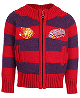 Babyhug Full Sleeve Sweater - Vehicle Patch