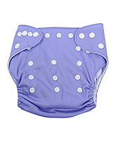 Fab N Funky Cloth Diaper With Insert - Purple