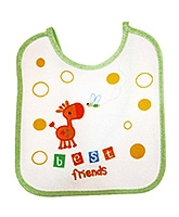 Tollyjoy Feeding Bib Printed - White And Green