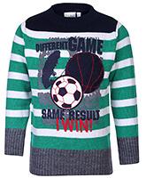 Babyhug Sweater Stripe Print - Full Sleeves