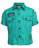 Babyhug Half Sleeves Shirt Solid - ESTD Patch