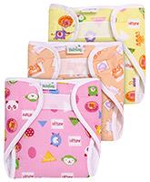 Babyhug Cloth Nappy With Velcro Closure Small - Set Of 3
