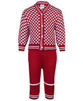 Babyhug Full Sleeves Sweater And Pajama - Red