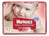 Huggies Total Protection Diapers Medium - 19 Pieces