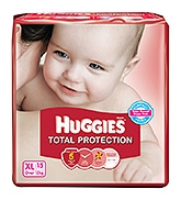 Huggies Total Protection Diapers Extra Large - 15 Pieces