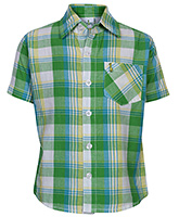 Babyhug Half Sleeve Shirt - Checks