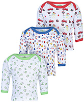 Babyhug Full Sleeves Vests Multi Print - Set of 3