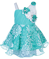 Babyhug Sleeveless Frock - Floral Applique