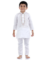 Babyhug Full Sleeve Kurta And Pajama - Embroidery