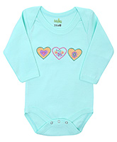 Babyhug Full Sleeves Onesies - Heart Embroidery