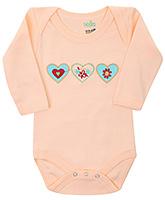 Babyhug Full Sleeves Onesies - Heart Embroidery
