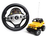 Fab N Funky RC Steering Wheel Emulate Jeep - Yellow