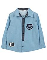 Beebay Twill Chambray Shirt - Light Blue