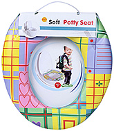 Fab N Funky Soft Baby Potty Seat Multi Color - Check Print
