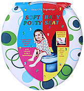 Fab N Funky Soft Baby Potty Seat Multi Color - Ring Print
