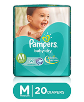 Pampers Baby Dry Diaper Medium - 20 Pieces