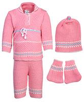 Babyhug Winter Wear Set - Pink