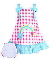 Babyhug Singlet Frock - Yarn Dyed Checks