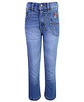 Babyhug Full Length Denim Jeans - Light Blue
