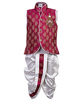 Babyhug Sleeveless Kurta And Dhoti Set