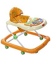 Fab N Funky Baby Walker Animal Print - Orange And Cream