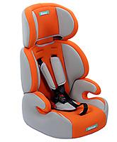 Fab N Funky High Back Car Seat - Orange And Grey