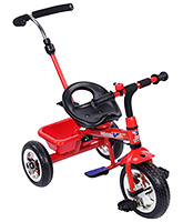Fab N Funky Tricycle With Push Handle - Red And Black
