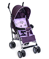 Fab N Funky Light Weight Stroller With Kitty Print - Purple