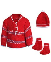Babyhug Front Open Winter Wear Set - Pack Of 3