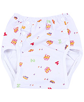 Fab N Funky Reusable Cloth Nappy - Train Print