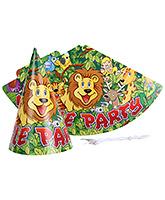 Birthdays & Parties Paper Caps Jungle Theme - 10 Pieces