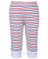 Babyhug Ribbed Hem Leggings Leggings - Stripes Print