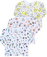 Babyhug Front Open Vest Full Sleeves - Set of 3
