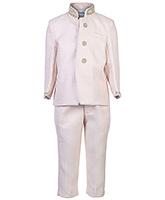Babyhug Full Sleeves Sherwani And Trouser Suit - Diamond Work