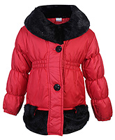 Babyhug Full Sleeves Hooded Quilted Jacket