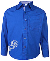 Babyhug Full Sleeves Shirt Blue - Car Print
