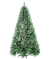 Wanna Party Pine Christmas Tree Snowflakes - Green And White